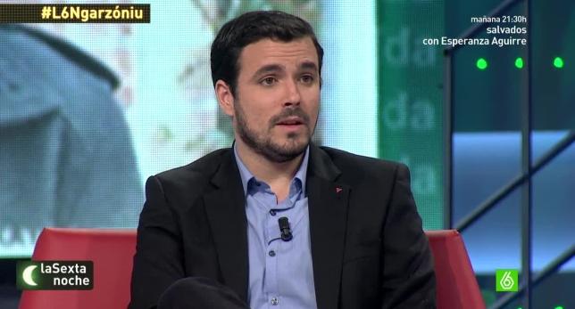 Alberto Garzón en La Sexta Noche.