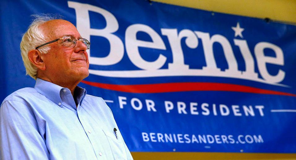 Sorpresa Sanders: así comunica el candidato revelación