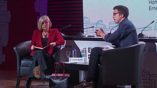 Chantal Mouffe e Íñigo Errejón