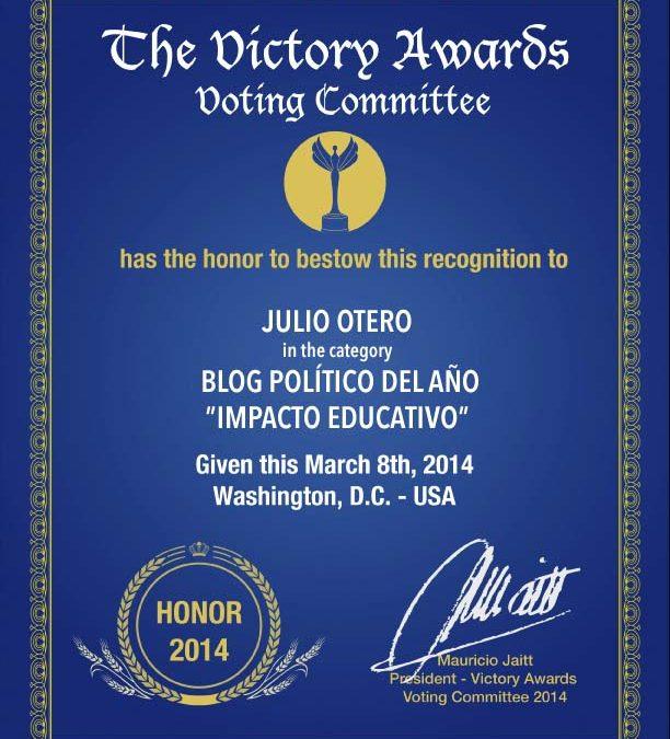 El Atril, de nuevo Mención de Honor en los Victory Awards
