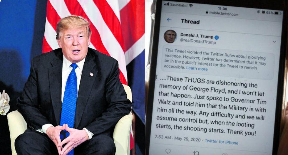 Los disturbios raciales y la estrategia de Trump en Twitter