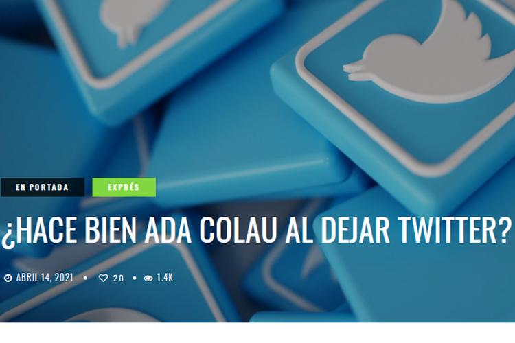 ¿Acierta Colau al salir de Twitter?